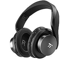 TaoTronics Bluetooth Kopfhörer Over Ear Headset 25 Stunden Spielzeit, Einstellbar mit CVC 6.0 Mikro, Zusammenklappbares Design mit On-Ear-Steuerung