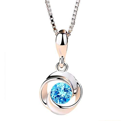 Collana Moda,KEATTL Collane con ciondolo di diamanti con ciondolo di cristallo elegante per collana da donna (Oro)