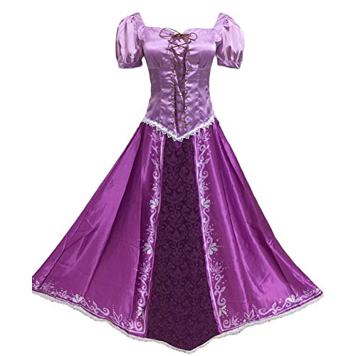 Fanstyle Tangled Rapunzel Cosplay Kostüm Lila Magie Prinzessin Lepe - Disney Tangled Kostüm