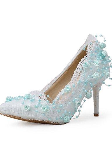 WSS 2016 Chaussures de mariage-Blanc-Mariage / Habillé / Soirée & Evénement-Talons / Bout Pointu-Talons-Homme 3in-3 3/4in-us8 / eu39 / uk6 / cn39