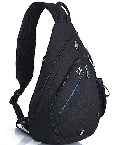 Petit sac à dos à bandoulière Freemaster - Pour camping, gym, cyclisme, école, Enfant Homme femme, UKBB0016, noir, 18.7H x 11.8W x 5.1T inch (47 x 30 x 13cm)