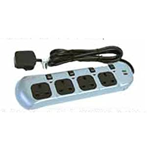 4 Way Surge Protector Power Extension Lead Switched
