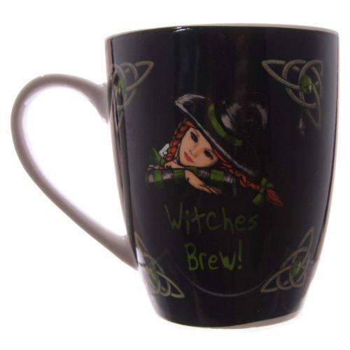 Witches Brew - brebaje de Brujas - taza de porcelana - diseado por el artista Lisa Parker - en caja de presentacin