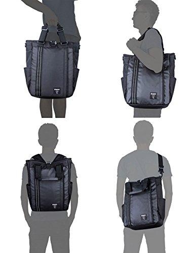 Leaper Herren Handtasche lässig-sportliche Umhängetasche wasserdicht coole Reisetasche Rucksack (Schwarz) Blau