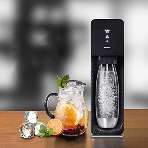 TYUIO Mineralwasser-Hersteller (schwarz), mit CO2 und BPA frei Flasche