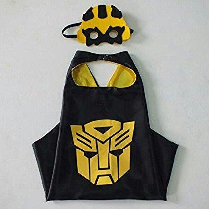 Superheld Kostüme Masken Capes Satin Jungen Kostüm Maske Kap Satin Transformatoren (Blumble Bee) (Einfache Selbst Gemachte Kostüme Für Halloween)