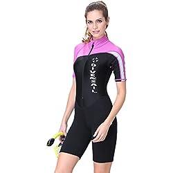 Theshy Combinaison De PlongéE Femme Pas Cher Couture à La Mode Surfing Combinaison De PlongéE pour Femmes Combinaison De PlongéE avec Tuba Maillot De Bain Combinaison De Surf