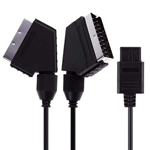 Gimax 1,8 m A/V TV Video Scart RGB Kabel 21-polig Euro Scart Stecker Kabel Kabel Kabel für Nintendo SNES Gamecube und N64 Konsole A/v Tv