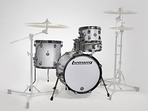 Ludwig LC179X028 Breakbeats 4-teiliges Shell Pack mit Riser White Sparkle