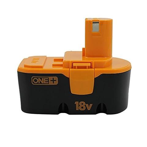 KINSUN Replacement Power Tool Battery 18V 2.0Ah for Ryobi Cordless Drill Impact Driver 130224028, 130224007, 130255004, ABP1801, ABP1803, BCP1817/2SM, BPP-1813, BPP-1815, BPP-1817, BPP-1817/2, BPP-1817M, BPP-1820 and