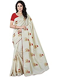 Rani Saahiba Art Silk Embroidered Saree