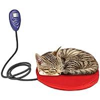 ZMYLOVE Almohadilla calefactora para Mascotas, colchón Calefactor eléctrico para Perros y Gatos de 12 vatios