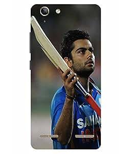 Case Cover Cricket Printed Blue Hard Back Cover For Lenov Vibe K5 Plus