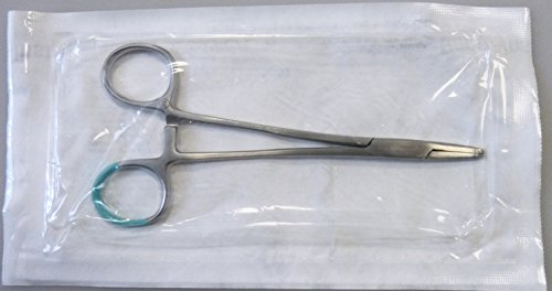 Peha-Instrument Nadelhalter Mayo-Hegar gerade, 14 cm, steril, einzeln verpackt, hygienisch, gebürsteter Stahl