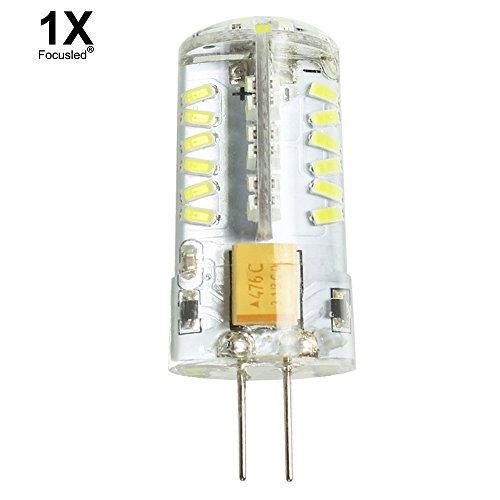 Focusled® 1X G4 Sockel 4W 57 SMD 3014 LED Leuchtmittel Super energiesparend licht LED Lampe 360o Abstrahlwinkel, AC/DC:12V 320-350LM Kaltweiß