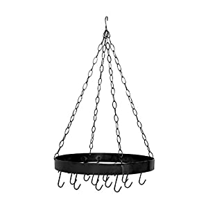 Premier Housewares Round Ceiling Rack, Matt Black