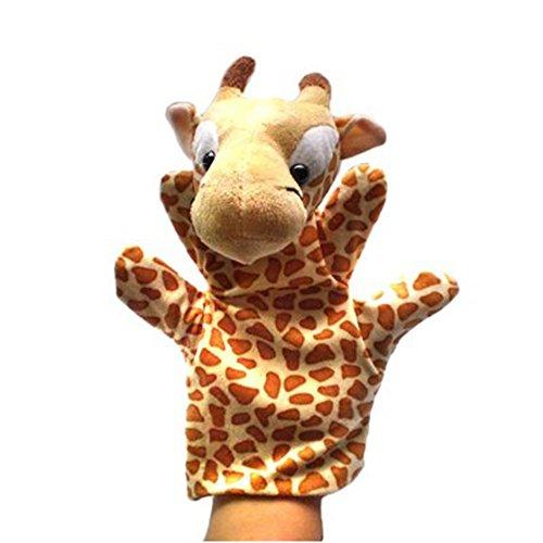 Niño del juguete de la felpa de la jirafa marionetas de mano