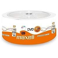 Maxell 276078 - Confezione da 25 DVD+R da 8,5 GB DL Double Layer, velocità 8x, 8,5 GB