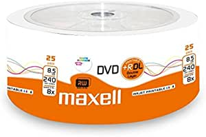 Maxell 276078 Shrink Of 25 Dvd R 8 5gb Dl 8 5gb 8x Computers Accessories