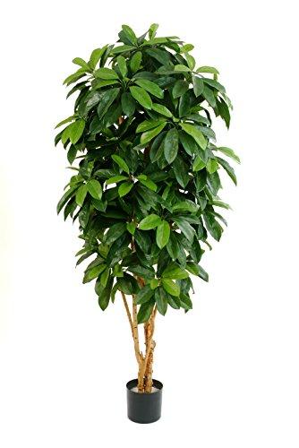 artplants – Kunst Pachira Malina, 500 Blätter, grün, schwer entflammbar, 140 cm – Künstlicher Glückskastanien Baum/Deko Pflanze