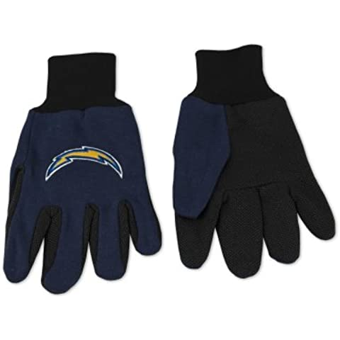 Caseys Distributing 9960690677 San Diego Chargers 2 tonalità, Guanti - Deluxe Diego