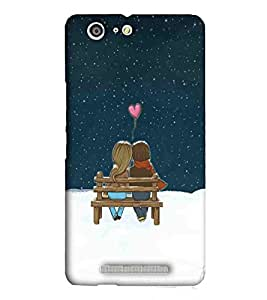 For Gionee Marathon M5 nice tower ( nice tower, tower, moon, star, cartoon couple ) Printed Designer Back Case Cover By Eaglehawk