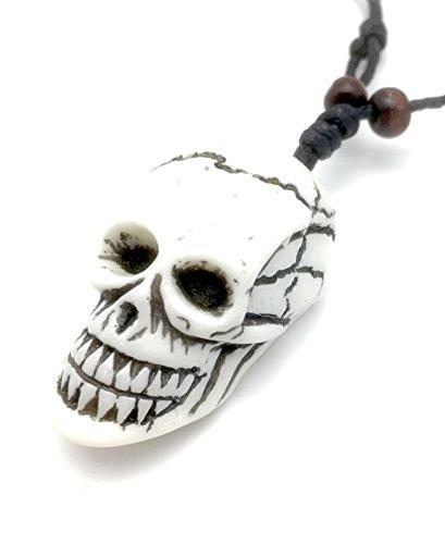 Charmtastic Carved White Skull Necklace Buy Online In Cayman Islands At Desertcart