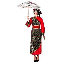 Krause & Sohn Disfraz chino Gr. 36-48 vestido largo chica asiática (46)