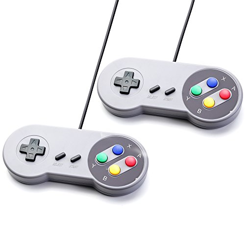 2x JEINNDEER Nintendo juego de PC GamePad controlador SFC para Super Famicom Windows PC USB