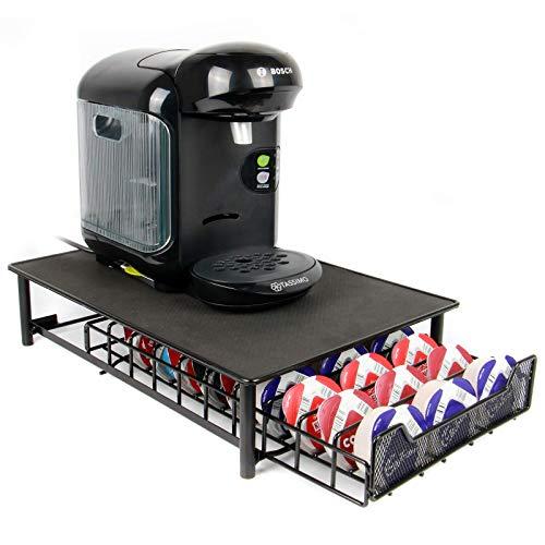 Maison & White Tassimo Kaffeekapseln Halter | Für Lagerung von 60 Kapseln | Rutschfeste Oberfläche | Tassimo Pad Halter - Schwarz