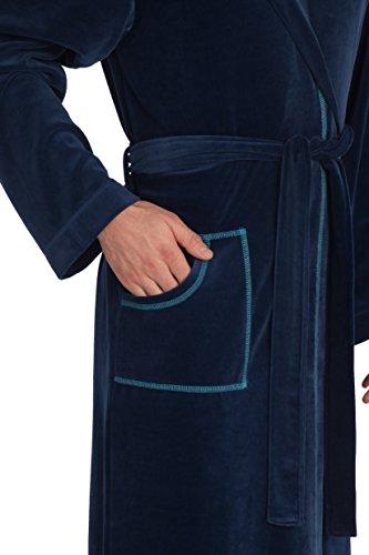 Vossen Herren Bademantel Saunamantel Turquoise
