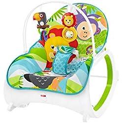 Fisher-Price - Hamaca Crece Conmigo Safari, Hamaca Bebé Recién Nacido (Mattel FML56)