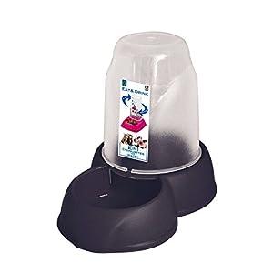 Distributeur automatique d'eau ou de nourriture pour chat ou chien ou petit rongeur, taille Médium 1,6 litres pour eau ou croquettes, avec patins anti dérapants