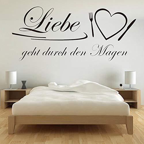 supmsds Neue Kunst Poster Abnehmbare Wohnzimmer Zitat Deutsch Liebe Liebe Wandaufkleber Wohnkultur Vinyl Wandtattoo Für Schlafzimmer Wallpaper63x141 cm