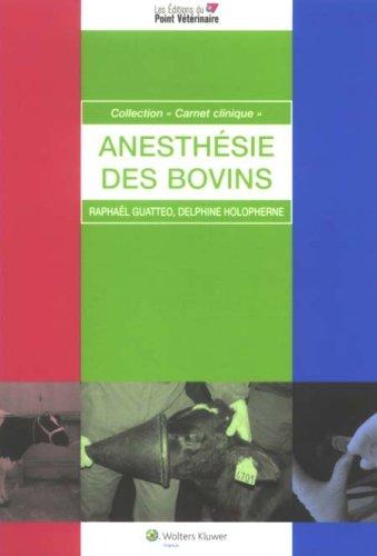 L Anesthesie des Bovins