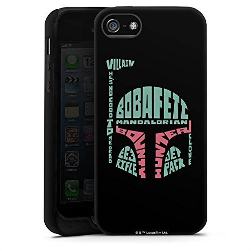 Apple iPhone X Silikon Hülle Case Schutzhülle Star Wars Merchandise Fanartikel Boba Fett Typo Tough Case matt