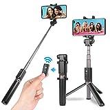 Power Theory Bluetooth Selfie Stick mit Handy Stativ und Fernauslöser - Selfiestick für Samsung Galaxy S9 S8 S7 Edge S6, iPhone X 8 7 6s Plus 6 und alle Smartphones - Selfi Halter Monopod Stange