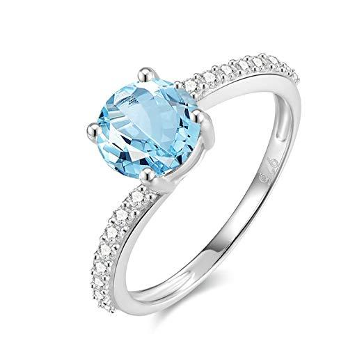 Aooaz gioielli argento sterling anelli donna il giro anelli ragazza oro bianco dimensione italiana20