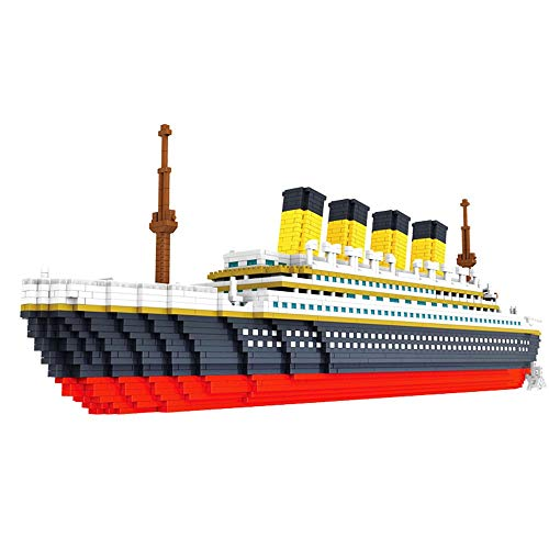 Tagke Piccole Particelle Micro-drilled Building Blocks Giocattoli per Adulti Lego Assembled Giocattoli educativi Boy Cruise Ship Titanic Model Toy Ornaments