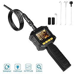 Dericam Endoskopkamera, Endoskop Inspektionskamera Handy mit 8mm Kamera, IP67 wasserdicht für den Einsatz im Heim Rohr, Auto, Entlüfter, Wand-Kontrollen oder andere schwer zu erreichende Stellen, IC01