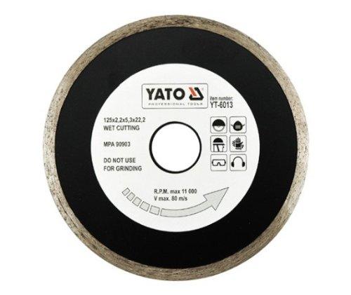 Yato yt-6013kontinuierlicher Ring Diamant-Trennscheibe 125mm ist (Amazon Diamant Ringe)