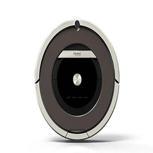 iRobot Roomba 871 Aspirateur Robot, Système de Nettoyage anti - Emmêlement avec Capteurs de Poussière Dirt Detect, Aspire Tapis et sols durs, Idéal pour les Poils d'Animaux, Nettoie Selon votre Programmation, Gris