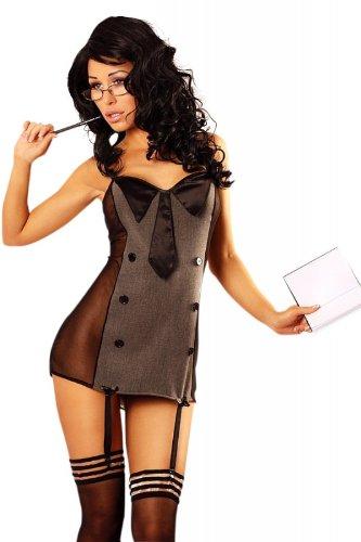 Lolitta Dessous schwarzes Outfit Teacher S/M Lehrerinkostüm