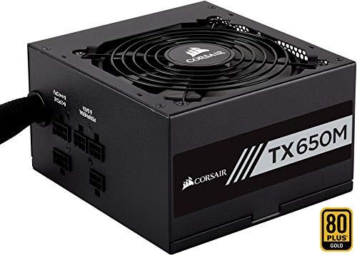 Corsair TX650M PC-Netzteil (Voll-Modulares Kabelmanagement, 80 Plus Gold, 650 Watt, EU)