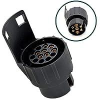 Jebester Waterproof 7 to 13 Pin Plug Trailer Caravan Electric Adapter Towing Bar Socket