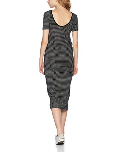 ONLY Damen Kleid 15112079, Maxi, Gestreift Mehrfarbig (Black Stripes:Black AND LGM)