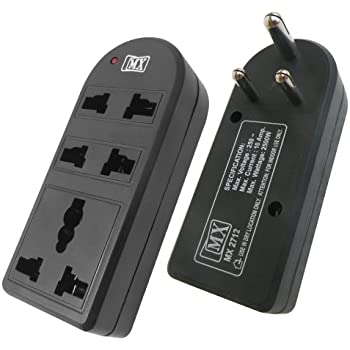 MX 2712 3-Way Universal Adapter (Black)