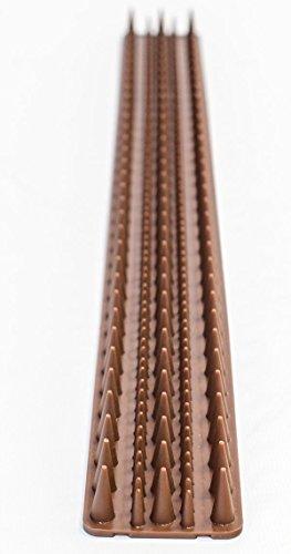 Primrose Lot de 8 bandes avec pics pour clôture marron