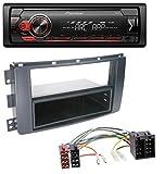 caraudio24 Pioneer MVH-S100UB USB AUX MP3 1DIN Autoradio für Smart ForFour 454 ForTwo 451 ISO
