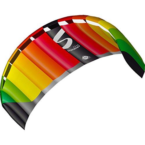 HQ 11770550 - Symphony Pro 2.5 Rainbow Zweileiner Lenkmatten, ab 14 Jahren, 73x220cm, inkl. 140 kp Dyneemaschnüre 2x25m auf Winder mit Schlaufen, 2-6 Beaufort